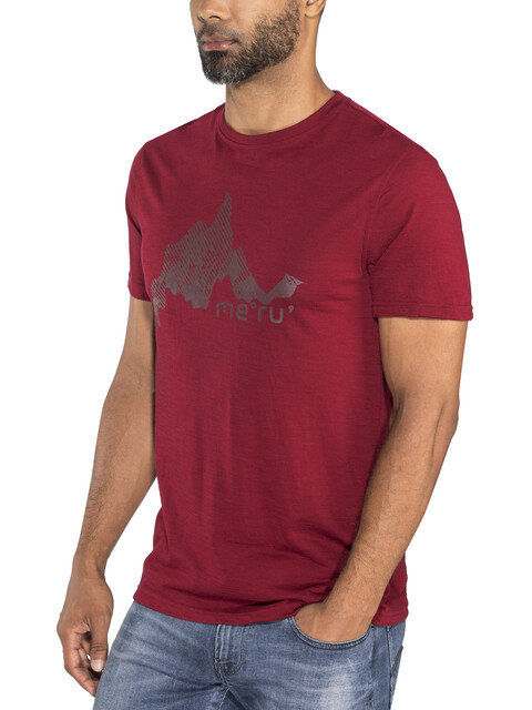 Meru Tumba Wool SS Shirt Men Rhubarb